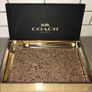 Coach Star Glitter Wristlet with Gift Box